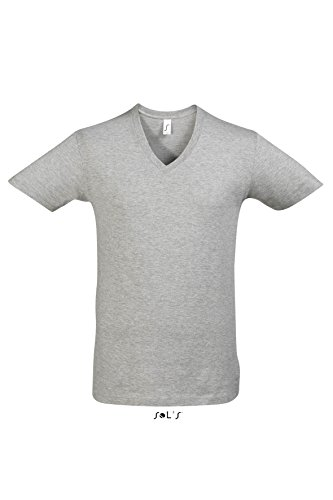 Short Sleeve Tee Shirt Master S,Grey Melange (Cashmere Sleeve Tee Short)