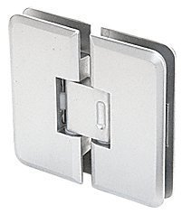 CRL Satin Chrome Petite 135 Series 360 Degree Glass-to-Glass Hinge by C.R. Laurence (Petite Satin)