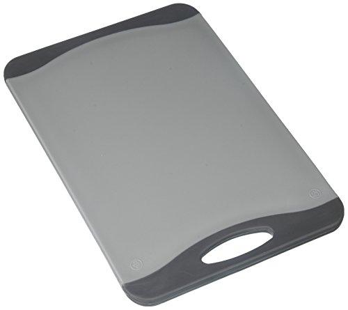 Kesper 30875 Tranchierbrett antibakteriell, 29 x 19.6 x 1 cm grau