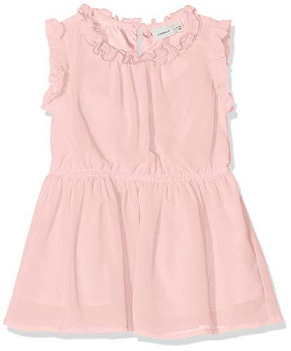 NAME IT Baby-Mädchen NMFVILUSI CAPSL DRESS H Kleid, Rosa (Strawberry Cream), (Herstellergröße: 92)