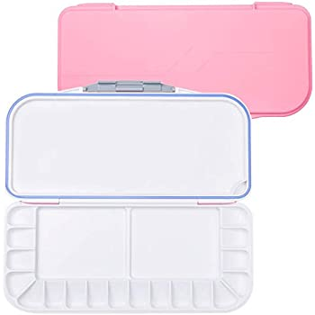 Pink Adults /& Artists Nice Gift for Kids ATWORTH 18-Well Premium Watercolor Paint Palette Acrylic /& Oil Paint Travel Portable Folding Paint Palette for Watercolor