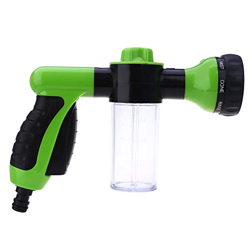 Shuzhen,Arma de Agua de Alta presión del jardín del Coche de la Boca Ajustable del rociador de la Espuma(Color:Verde)
