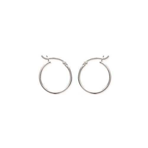 Mary Jane–Creolen Silber Damen–Durchmesser: 20mm/Breite: 20mm–Silber 925/000(Creolen/rund)