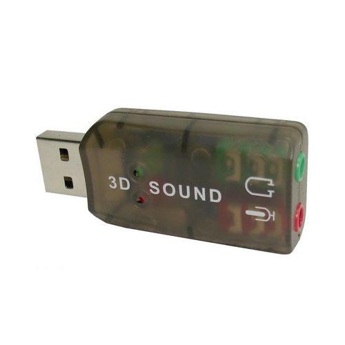 USB 2.0 External 3D 5.1 Channel External Sound Card Adapter PC / Laptop Audio