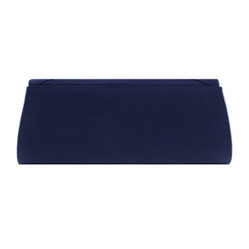 Damara® Glatt Satin Bowknot Mit Strass Clutches Abendtaschen Grau