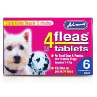 Johnsons 4Fleas Small Dogs & Puppies Tablets 6 Pack