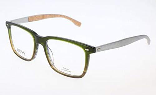 BOSS Hugo Herren Brille Brillengestelle, Grün, 53