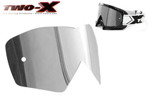 TWO-X Race Spiegelglas Silber Ersatzglas verspiegelt