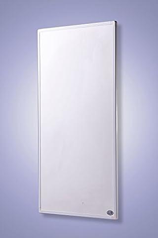 Infrarot Heizung mit Digital- Thermostat Elektroheizung mit Stecker für Steckdose - 5 Jahre Premium-Herstellergarantie- Elektroheizung mit Überhitzungsschutz und TÜV - Heizt nach dem Prinzip der Sonne - heizt im optimalen Wellenlängenbereich von 8-15µ - Sonnenheizung (600
