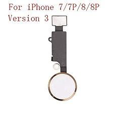 Mobofix Home Taste Home Button Hauptschlüssel Ersatz für iPhone 7 7 Plus 8 8 Plus Flex Cabel (Version 3.0 Gold)