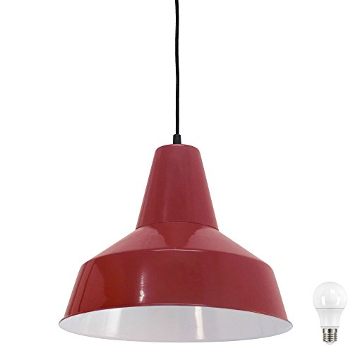 Retro Hänge Leuchte Gäste Zimmer Strahler Pendel Decken Lampe Bordeaux im Set inkl LED Leuchtmittel