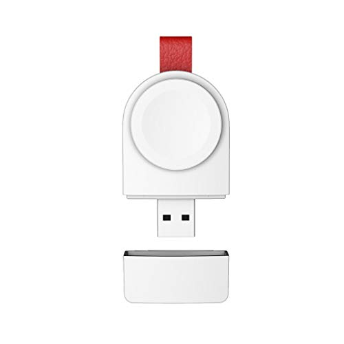 Momola Mini Tragbar Induktionsladegeräte für Apple Watch/iWatch Serie 4 40 / 44mm,Magnetic USB Wireless Charger Ladestation Halter Wireless-Ladegerät Drahtloses Ladegerät