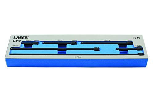 Impact Extension Bar Set (Laser 7371 Impact Extension Bar Set 1/4