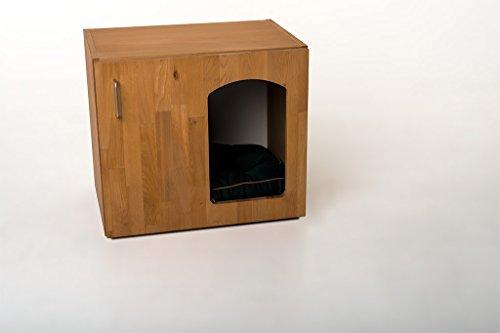 """Indoor Hundehütte """"Lucky-Deluxe"""" Hundebett mit Liegekissen Schlafplatz Buche Echtholzfurnier B / H / T 60 x 53,5 x 41 cm - 2"""