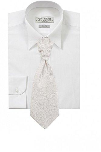 Shirt weißer Mann versteckte Knöpfe oder Elfenbein Weiß