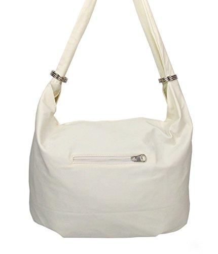 Stylische Damen Handtasche in vielen Farben Weiß
