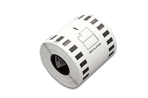 Preisvergleich Produktbild vhbw Rolle Etiketten Aufkleber endlos für Brother P-Touch QL-1050, QL-1050N, QL-1060, QL-1060N, QL-500, QL-500A, QL-500BS, QL-500BW wie DK-22212.