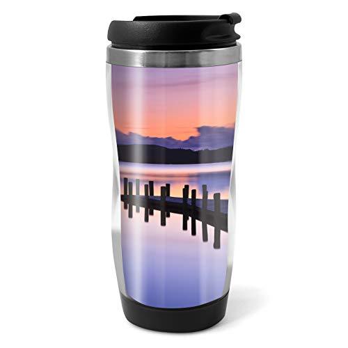 DV Flasks Coniston Water Sonnenuntergang-Reise-Becher-Flasche - 330ml Kaffee-Tee-Kinder-Auto-Geschenk # 14247 -