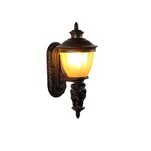 Kronleuchter Wandlampe aus reinem Kupfer Engel Baby Wandlampe moderne minimalistische wasserdichte Außenwandleuchte schwarz lackiert Außenwandleuchte 27 * 1 -