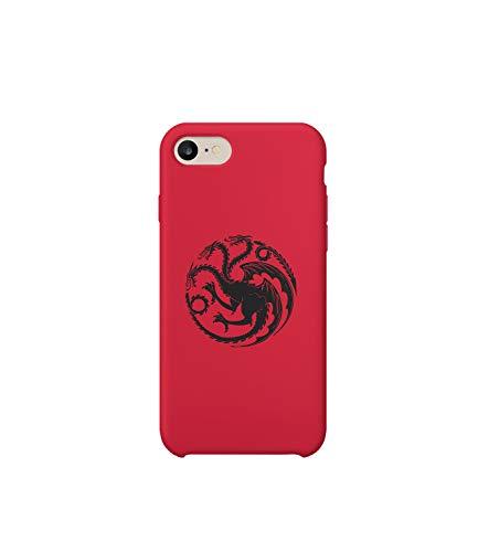 Dragons Targaryen Family Game of iPhone 6 7 8 X Plus Plus Phone Case Cover Estuche para Funda de Teléfono De Carcasa Casco Protector Plástico Duro Divertido