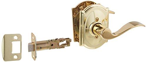 Schlage Lock Company F10ACC505CAM Series Accent w Camelot Rose Passage Door Locks Brass by Schlage Lock Company -