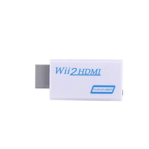 fghdf Fit Amkle Wii zu HDMI Adapter Converter Unterstützung FullHD 720P 1080P 3.5mm Audio