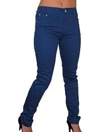 ICE (1417-1) Jeans Bleu Extensible Légèrement avec Jambes Effilées pour Grandes Tailles