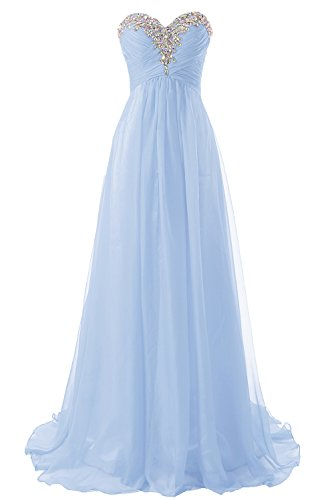 Abendkleider Ballkleider Lang Chiffon Brautjungfernkleid A Linie Damen Festkleid Lavendel EUR58