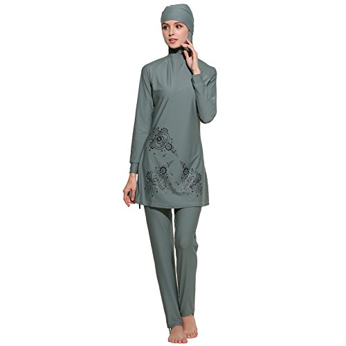 Lazy Cat Modest Swimwear Full Length Swimsuit Muslim Swimwear Hijab Burkini