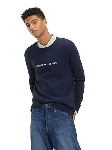 Preisvergleich Produktbild Tommy Jeans Sweatshirt Mann TJM Kleiner Logo-Pullo M Blau