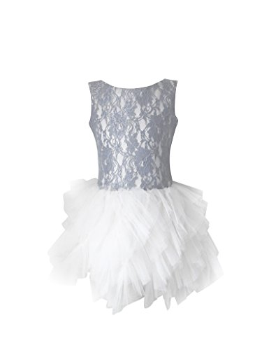 DOLLY by Le Petit Tom ® RAMBLING TUTU DRESS silvergrey/ off-white medium 6- 8Y / silvergrey/off-white / polyester