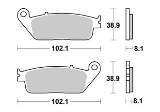 BREMSBELAGE VORNE AP RACING HONDA GL VALKYRIE F6C 1500 1997-1999