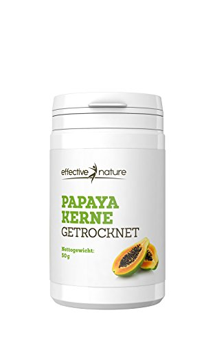 Image of effective nature Papaya Kerne getrocknet - 50g