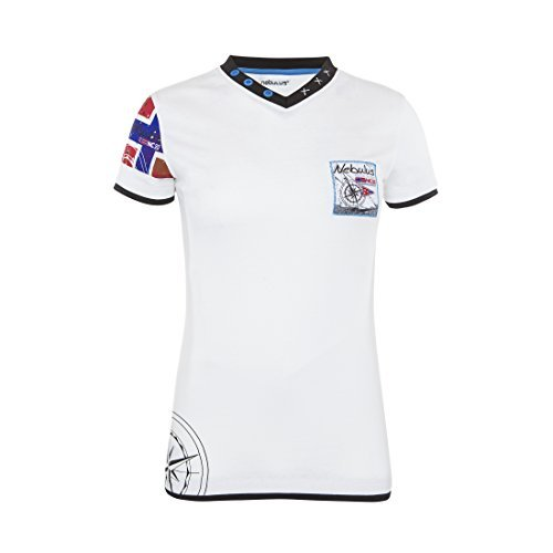 T184 - T-Shirt PATAGONIA (Model: Q2199 - Damen, weiß; Größe: M/38) (Shirt White Patagonia)