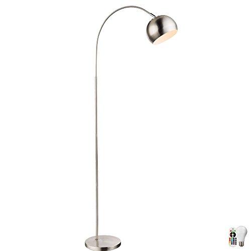 Eclairage de salon lumineux à télécommande arc lecture lampe dimmable dans l'ensemble y compris les ampoules LED RVB