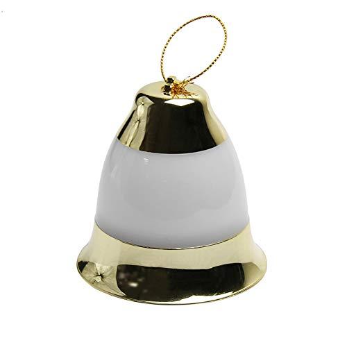 Waroomss Bell Form LED Deko Licht ohne Musik / mit Musik für Saisonale Dekorative Weihnachtsfeiertag, Hochzeit, Partys Weihnachtsbaum, Garten, Rasen, Terrasse, Haus, Schlafzimmer Dekorationen, Indoor, Outdoor-Green (Gold ohne Musik)