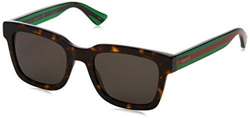 Gucci gg0001s 003, occhiali da sole uomo, marrone (avana/grey), 52