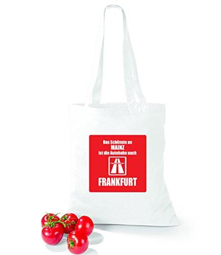 Artdiktat Baumwolltasche Das Schönste an Mainz ist die Autobahn nach Frankfurt sunflower white