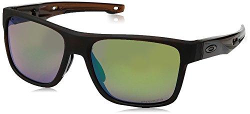 Oakley Herren Crossrange 936110 57 Sonnenbrille, Braun (Matte Rootbeer Tortoise/Prizmshallowh2Opolarized)