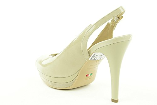 NERO GIARDINI donna sandali spuntati open toe P512581DE/701 MOONLIGHT