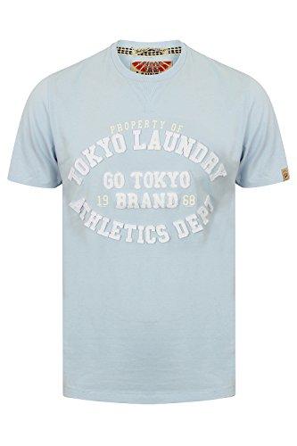 Tokyo Laundry Herren Blusen T-Shirt blau blau Small Blau