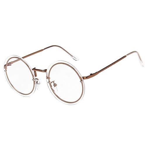 SNXIHES Sonnenbrillen Neueste Männer/Frauen Retro Brillengestell Runde Metall Brillen Rahmen Korean Myopie Randlose Rahmen Optische Brillen 5