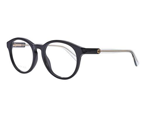 Gucci Brille (GG-0485O 005) Acetate Kunststoff schwarz glänzend - kristall