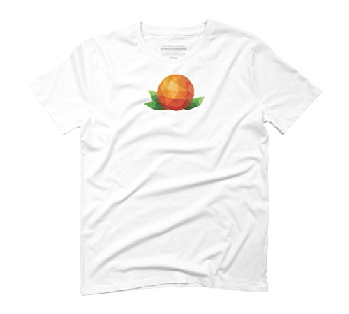 Geometric orange fruit Men's Graphic T-Shirt - Design By Humans White
