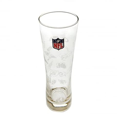 Forever Collectibles NFL All Logos Slim Pint Glass