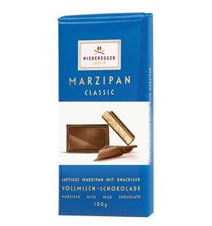 Niederegger Milk Chocolate Marzipan Bar 100G (Pack Of 12)