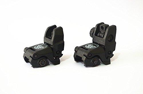 Noga Tactical pieghevole anteriore e posteriore schioccano in Alto i punti di Vista Del polimero resistente (Black) (Ar Flipup Sights)