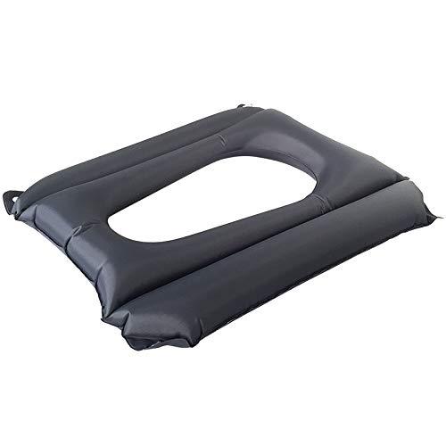 Anti Dekubitus Rollstuhl Kissen Aufblasbare Air Seat Medizinische Orthopädische Pad Für Patienten Dekubitus Kommode Sitz,Black,45Cmx37cmx33cm -