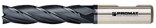 PROMAT 866394 Schaftfräser D.4mm HSS-E Co8 TiCN DIN844 Typ N PROMAT 4Schneiden lang
