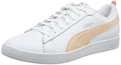 PUMA Smash Wns v2 L, Zapatillas Mujer, White-Peach